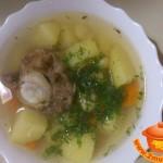 Фасолевый суп из говяжьего хвоста