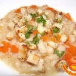 Постный тыквенный суп с рисом