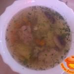 Диетический грибной суп с овощами