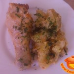 Куриные голени на картофельно–луковой подушке