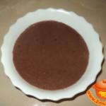 Шоколадная манная каша в мультиварке