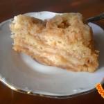 Насыпной пирог с яблоками и лимоном